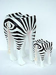 ZEBRA ANIMAL STOOL - SMALL