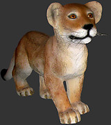Lion Cub - Standing Life Size Statue