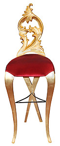 Diana Velvet Luxury Modern Bar Stool Red Velvet