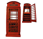 TELEPHONE BOOTH WINE CABINET 6FT