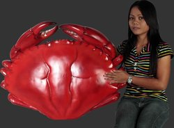 Red Crab Statue 3FT