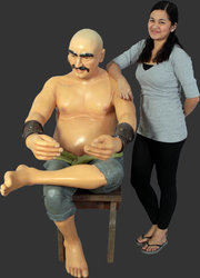 Sitting Pirate Moreno Life Size Statue 4FT