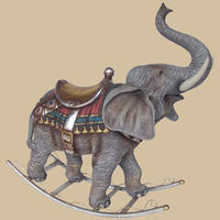 Rocking Carousel Elephant