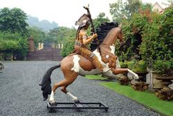 Indian Warrior Chief Statue Life Size
