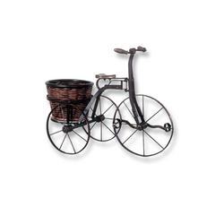 IRON BICYCLE W/ ROUND BASKET