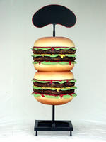 HAMBURGER FOOD SIGN 6.5FT