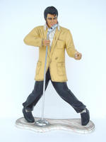 Rock and Roll Singer with Microphone Statue