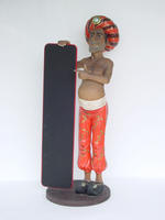 ARABIAN WAITER STATUE WITH MENU