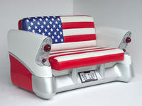 56 Chevy Sofa American Flag