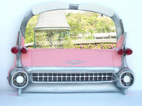 Pink Cadillac Decorative Car Mirror