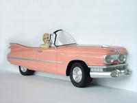 Pink Cadillac Car Wall Decor with Actress