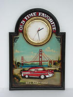 57 Chevy Wall Clock Advisement