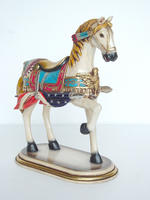 CAROUSEL HORSE ALL AMERICAN WITH BASE