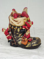 BOOT WITH SANTA 1.5 FT