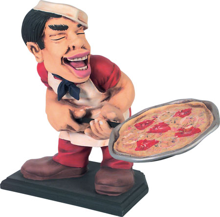 Pizza Man Statue
