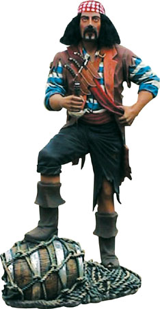 Pirate with Barrel (6ft)