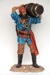 Chinese Pirate and Barrel 6FT