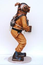 Diver Statue with Helmet