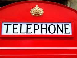 London Red Telephone Booth English Iron Phone Box Life Size
