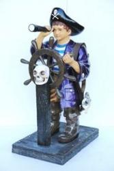 Pirate Boy with Ships Wheel