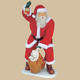 SANTA WITH REAL CLOTHES AND BAG