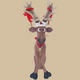 Funny Reindeer Sitting Christmas Decor 2FT