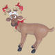 Funny Reindeer Standing on Crosslegs Small