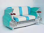 Car Sofa Turquoise 59 Cadillac Car Couch