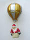 SANTA ON BALLOON WITH  GLITTER