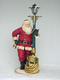 Santa Claus with Lamp Post Statue Life Size 7FT
