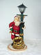 Santa Claus with Lamp Post Statue 4FT