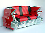 59 Cadillac Sofa in Red - 1959 Cadillac Car Sofa