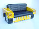 HUMMER Sofa- HUM VEE Sofa in Yellow