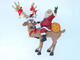 Reindeer Standing with Santa Claus Christmas Decor 4FT