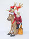 Reindeer Sitting with Santa Claus Christmas Decor 4FT