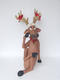 FUNNY REINDEER SITTING WITH CROSSLEGS 3FT