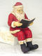 SANTA CLAUS SITTING WITH BOOK 4FT