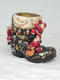 BOOT SANTA FOR FLOWER POT LARGE