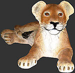Lion Cub - Lying Down Life Size Statue