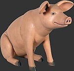 Sitting Pig Statue - Small