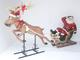 FUNNY SANTA ON SLEIGH WITH FUNNY REINDEER