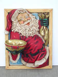 Santa In Window With Bowl 3FT