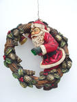 Santa On Wreath (Hanging) 2FT